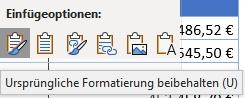 Microsoft Word - Einfügeoptionen ursprüngliche Formatierung beibehalten (u)