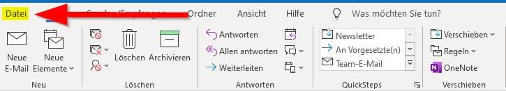 Outlook-klicke-auf-Datei