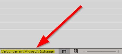 Verbunden mit Microsoft Exchange