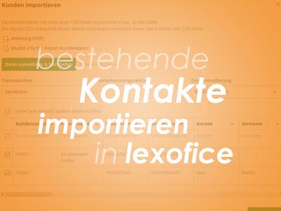 bestehende Kontakte importieren in lexoffice